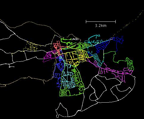 Kartentrace von OpenStreetMap
