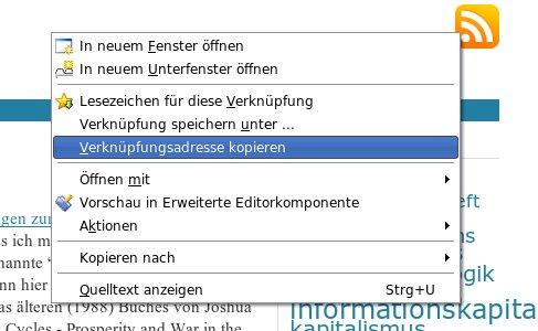 Link-Adresse mit Rechtsklick kopieren