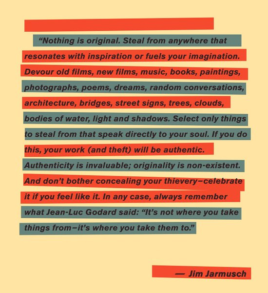 Jim Jarmusch on stealing