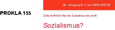 PROKLA 155: Sozialismus?